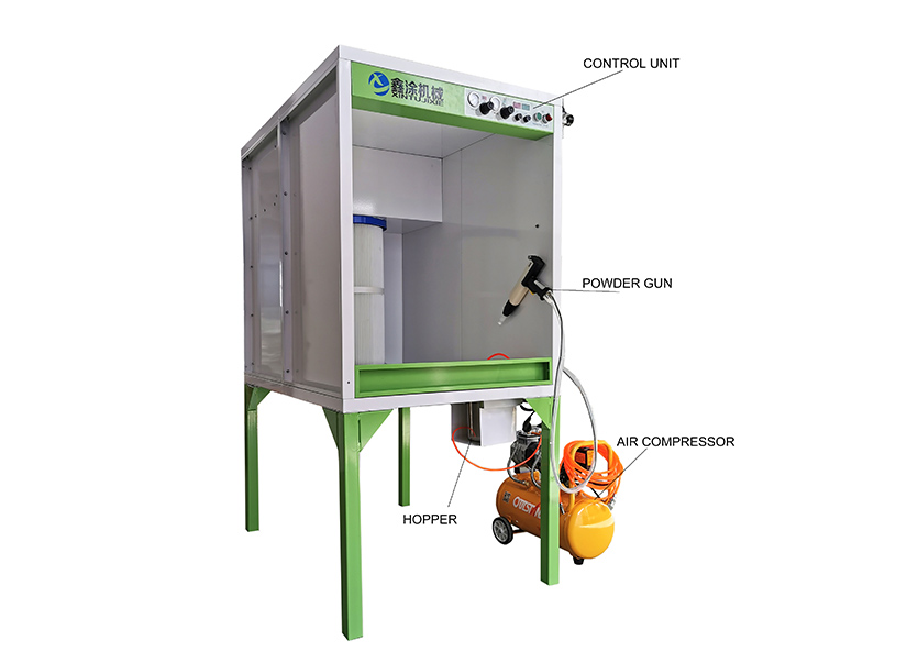 XT- BGC-1000 Combined type powder coating Booth