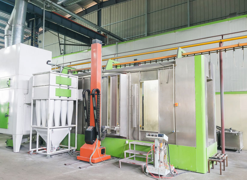 Xt-b5000-a  multi-cyclone powder coating booth