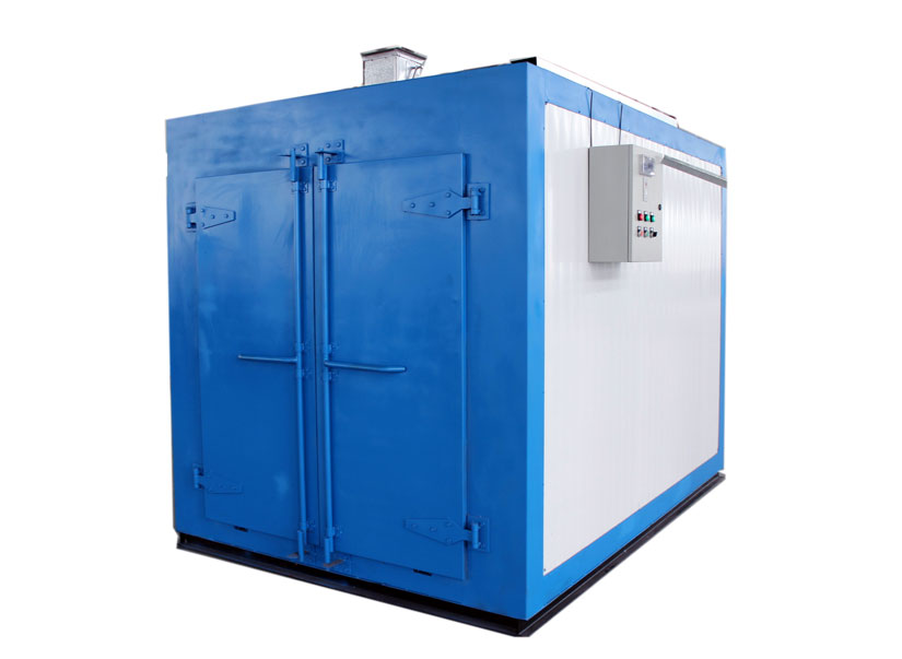 Double sided doors passage type electric powder curing oven