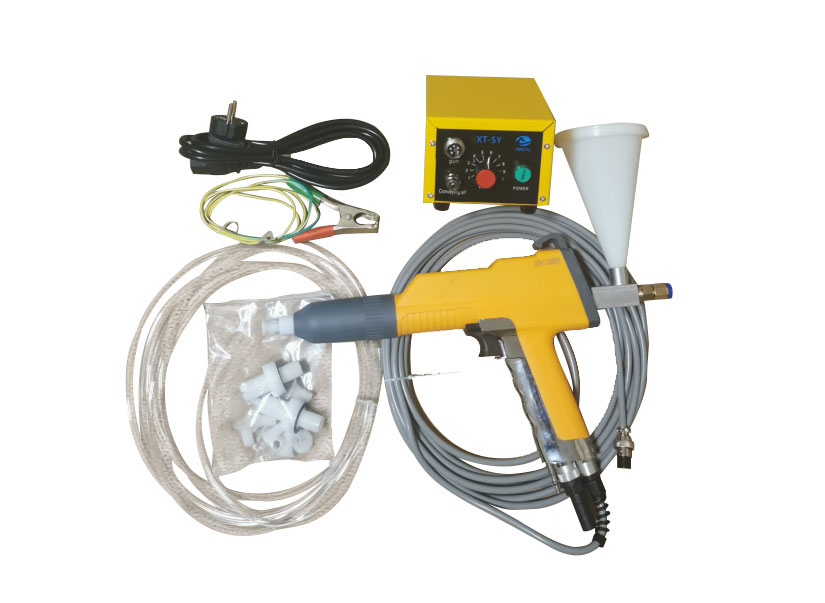 What are the components of electrostatic spray equipment?