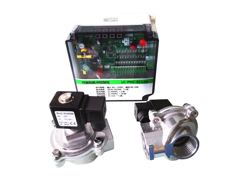 Pneumatic pulse solenoid valve with pulse jet control board for cleaning filters in powder booth